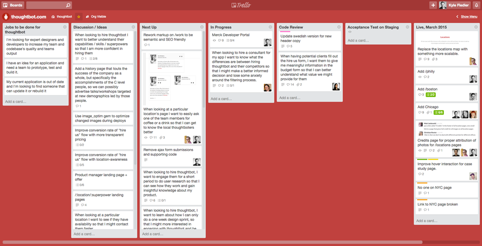 How We Use Trello For Product Design And Development Design Development Development Design