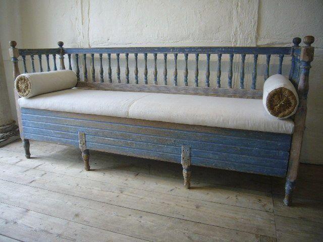 Swedish Antique Bench Gustavian Style Furniture Swedish Decor Swedish Furniture