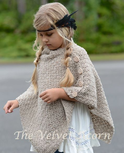 Crochet Pattern The Timberlyn Poncho Toddler Child Teen And Adult