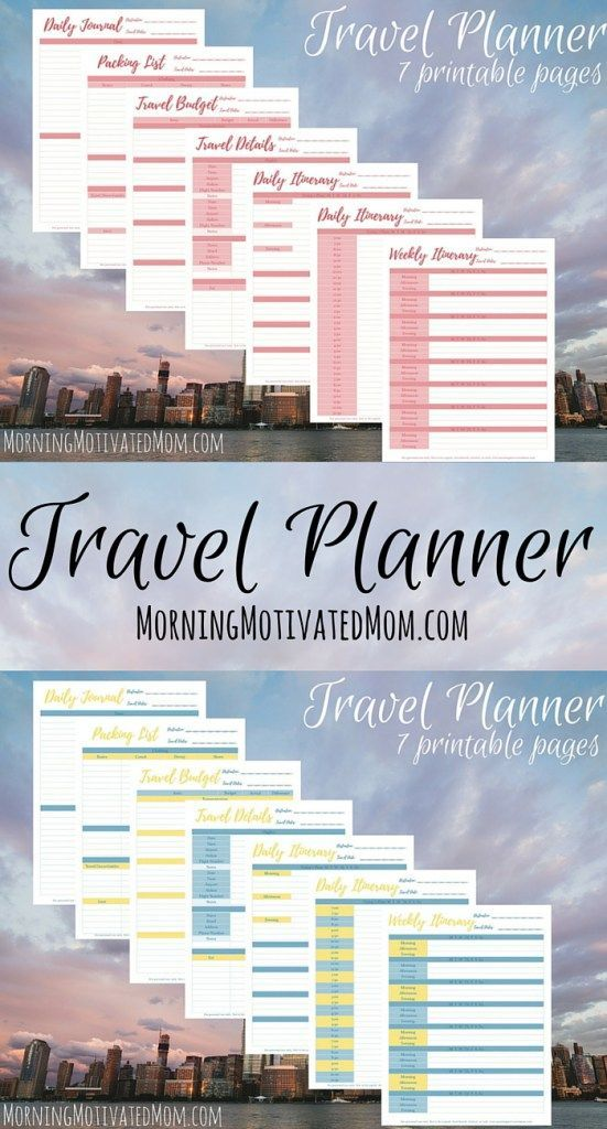 Travel Planner Printables  Travel Planner Daily Journal And Planners