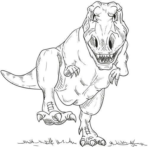 trex ausmalbild - 1ausmalbilder | dinosaurier