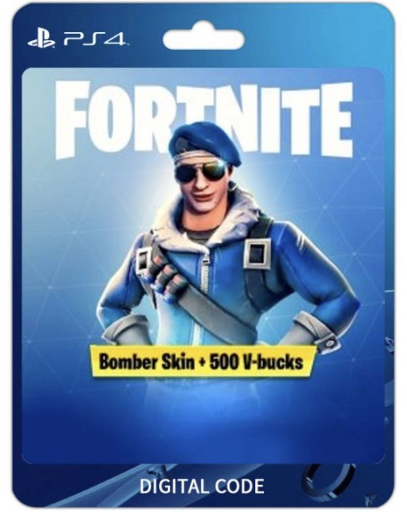 Fortnite Code Royale Bomber Skin 500 V Bucks Exclusive Ps4