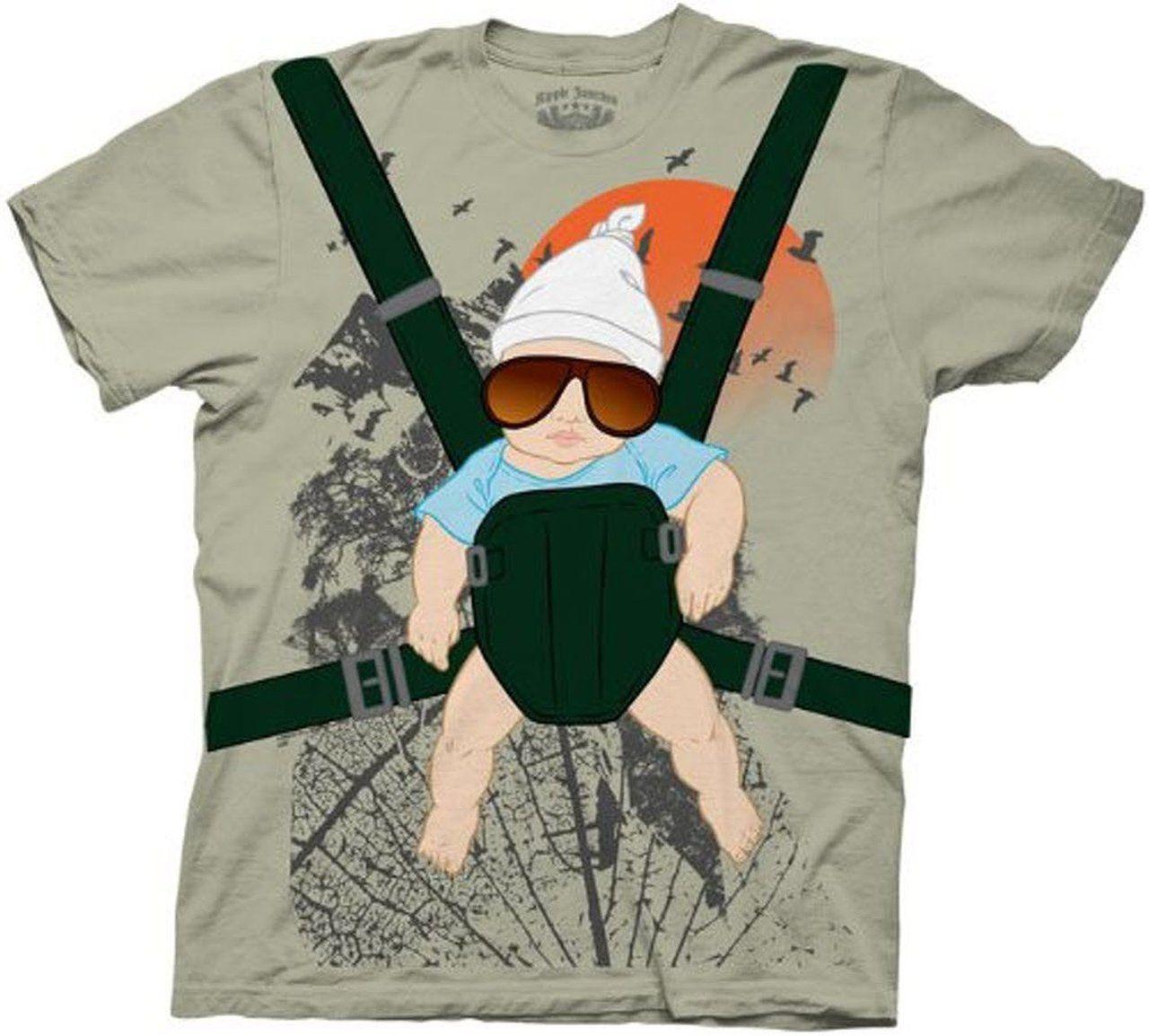 Alan Baby Bjorn With Graphic Human Tree Dark Khaki T-Shirt. Hangover AlanThe  ...