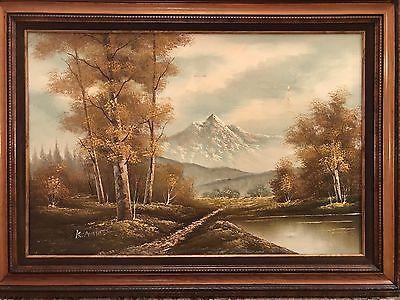 Original Antique Oil Painting Of A Landscape Signed K Amino Framed No Rsv Price Ebay Painting Antique Oil Painting Landscape Paintings