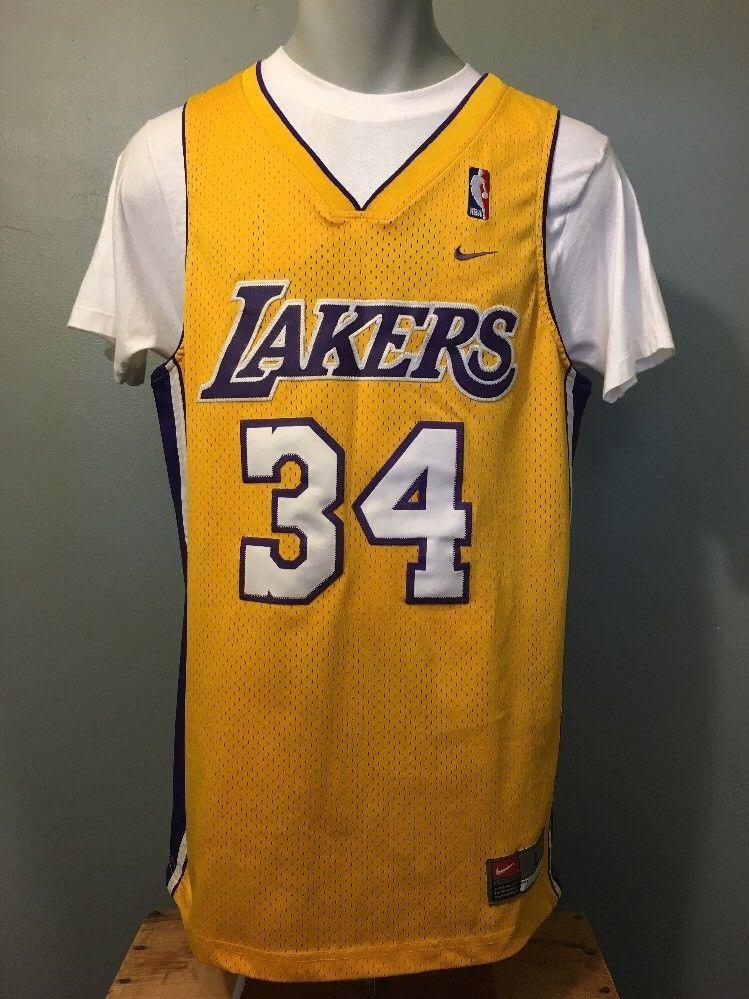 2ce561007325 Vtg Nike Shaquille O Neal LA Lakers Jersey Mens L NBA Basketball Uniform  Shirt (eBay Link)
