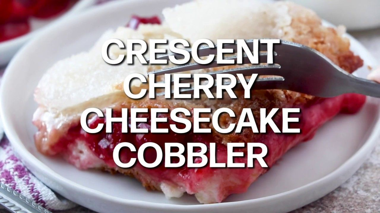 How to make: CRESCENT CHERRY CHEESECAKE COBBLER