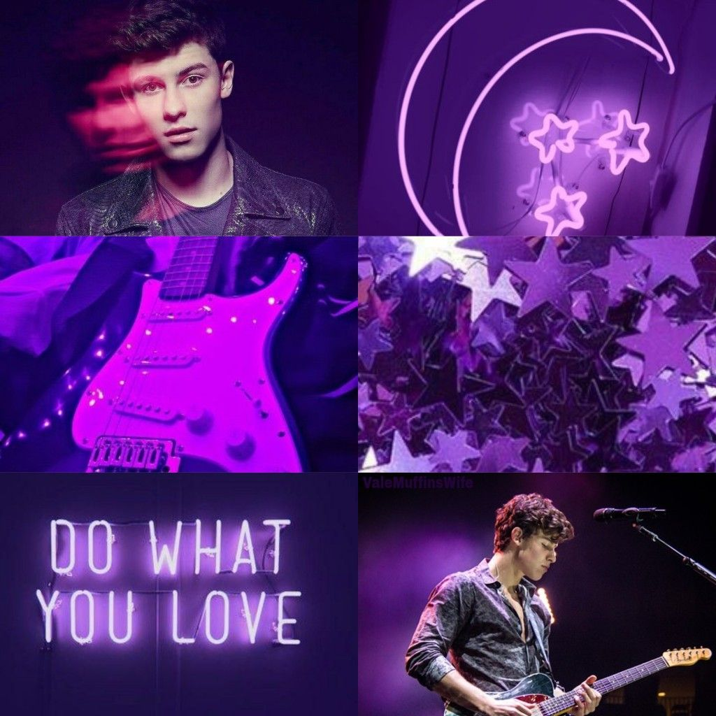 Shawn Mendes purple aesthetic
