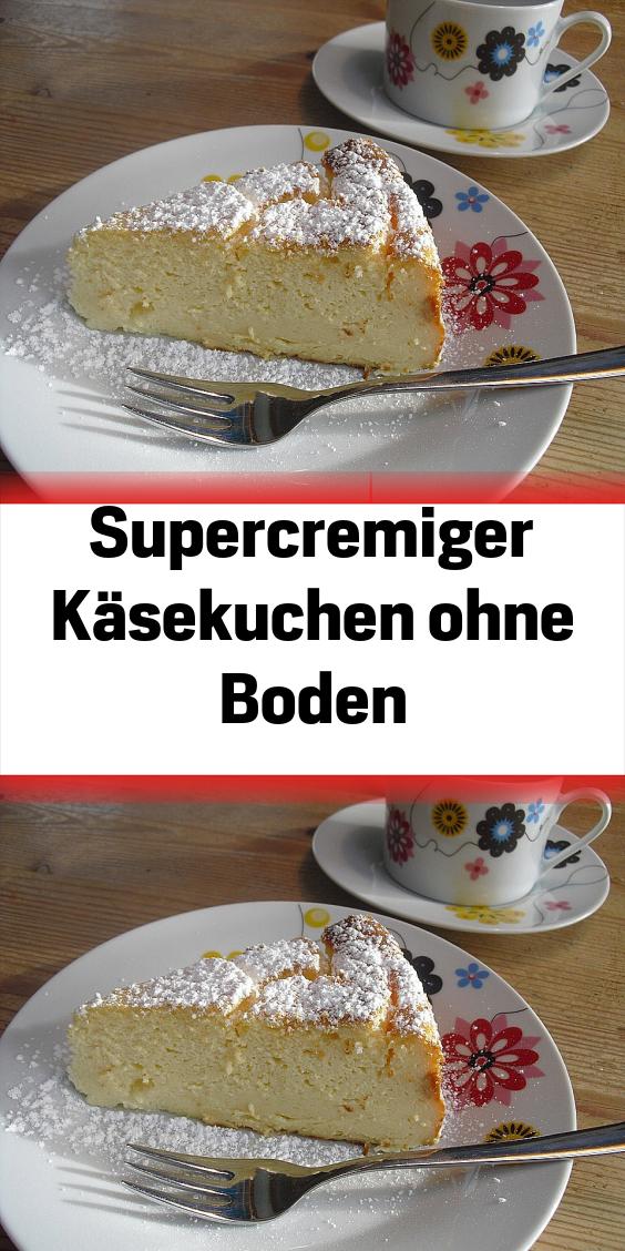 Supercremiger Käsekuchen ohne Boden