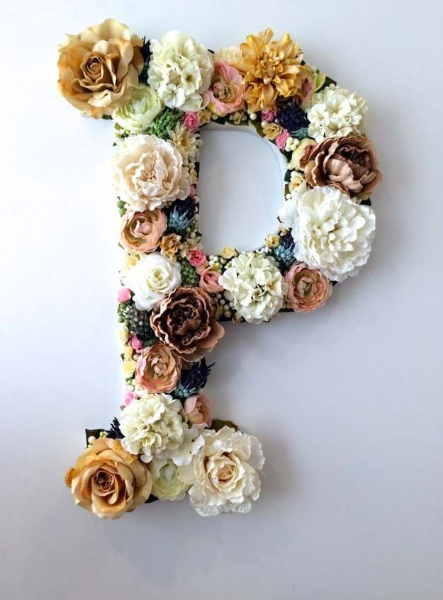 Time to get out the glue gun! Brighten up your Easter setup with this flower letter diy.