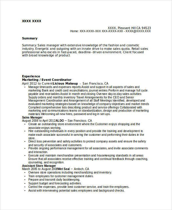 Marketing Event Coordinator Resume  Marketing Resume Samples For