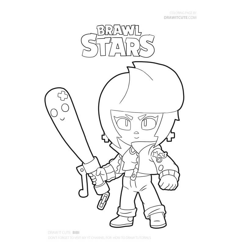 Coloring Pages Piper Print For Free Character Brawl Stars