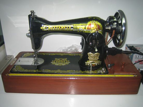 Butterfly Sewing Machine Made By The Peoples Republic Of China Extraordinary Butterfly Sewing Machine
