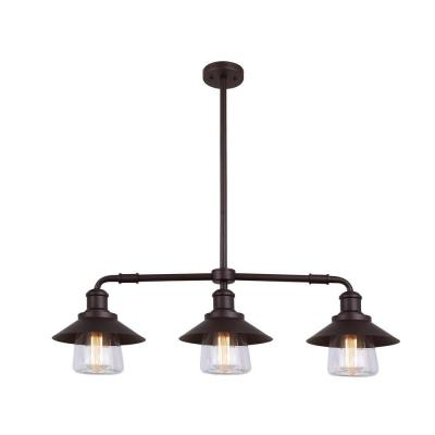 CANARM Indi 3-Light Bronze Pendant with Clear Glass-IPL521A03ORB at The Home Depot online only $169.