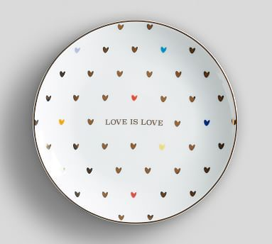 Love is Love Salad Plate Set of 4  sc 1 st  Pinterest & Love is Love Salad Plate Set of 4 | Salad plates