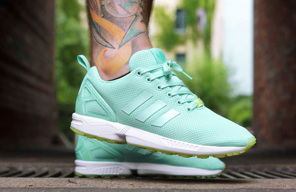 Adidas Zx Flux Green Floral