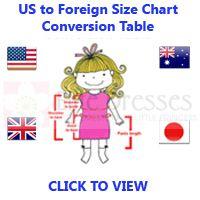 Children Size Chart Conversion Table