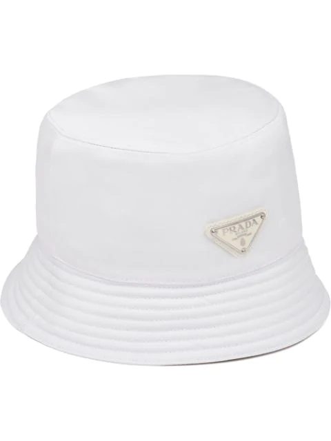Prada Logo Bucket Hat Farfetch Hats Prada Bucket Hat