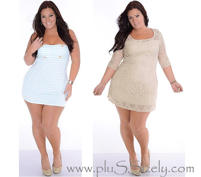 Cheap Price White Plus Size Club Dresses Image   clothes ...