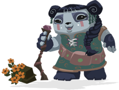 Liza the panda from animal jam- one of the shamans ...