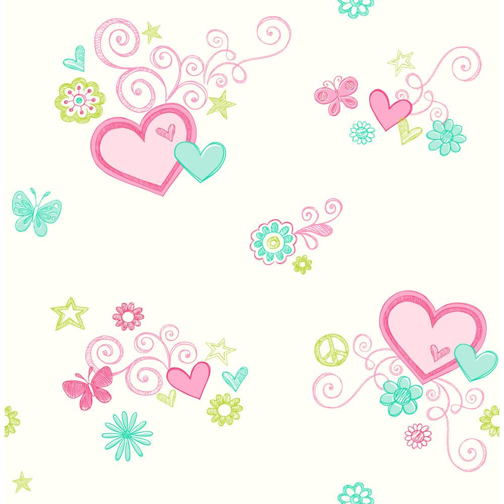 Wall stickers wilko - Wilko Heartfelt Wallpaper Pink