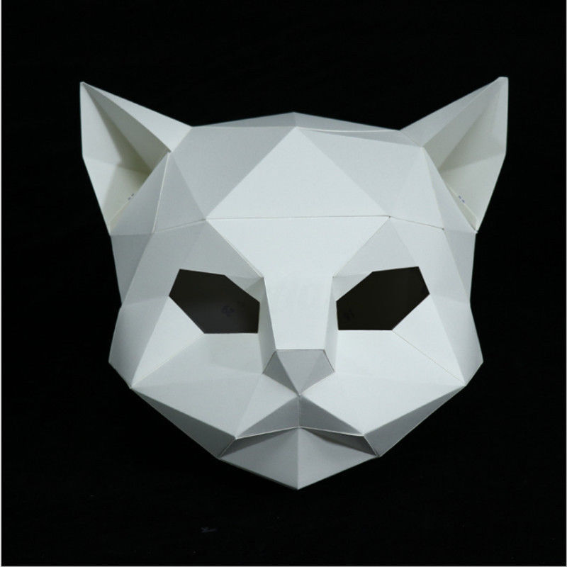 DIY Paper Mask Animal Head Creative Party Pulp Costume Cosplay Masquerade Funny