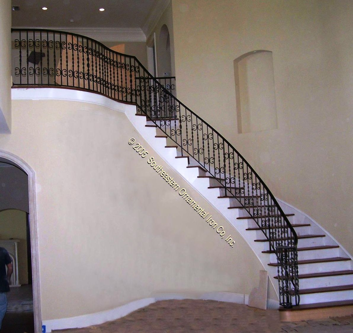 Stair Railings Interior | Interior Wrought Iron Stair Rail, Cable Stair Rail,  Rod Iron