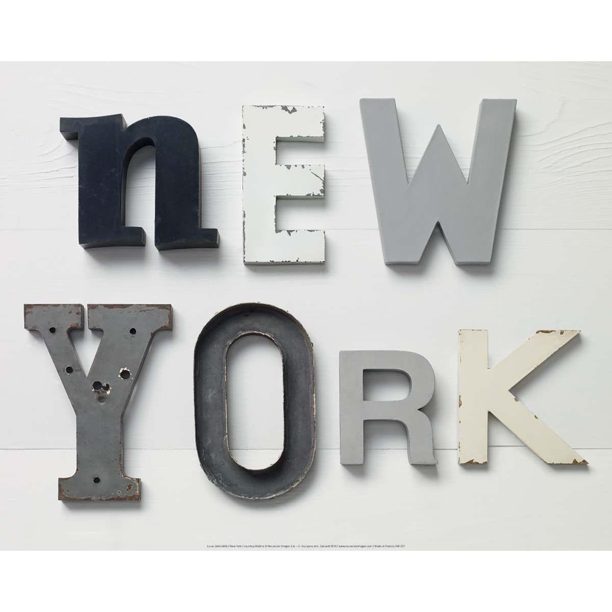 Louis GAILLARD Affiche 40x50 cm New York Camille SOULAYROL