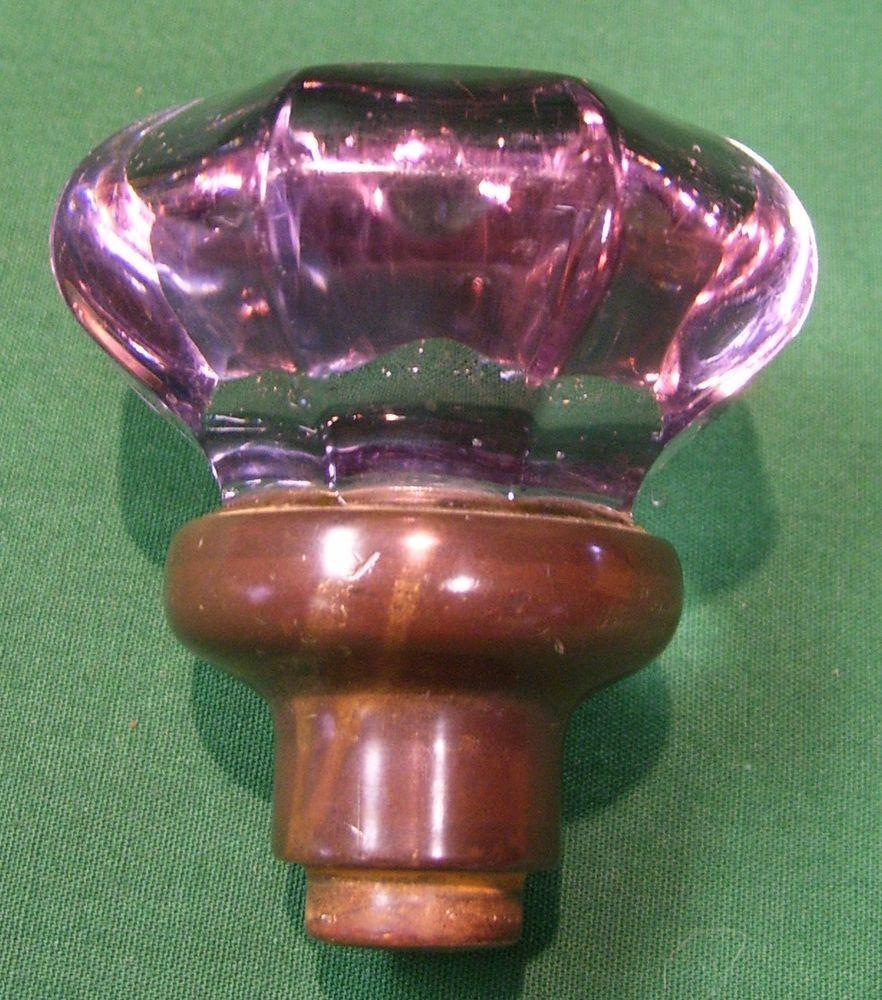 Antique Purple Glass Door Knob Great walking stick top!! BEAUTIFUL  FUNCTUAL