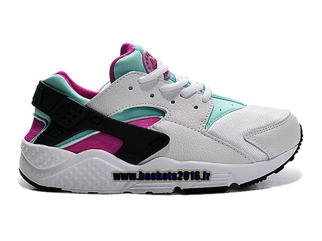 best website 22794 de628 Nike Air Huarache Chaussures Nike Officiel Pour Garçons   Filles Blanc -  Noir - Vert -