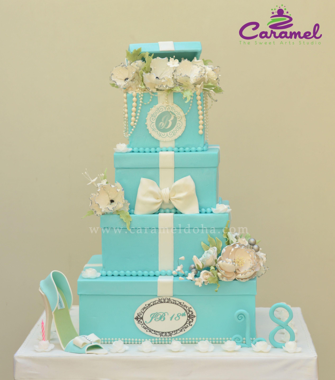 Tiffany Inspired 18th Birthday Cake By Caramel Doha Qatar