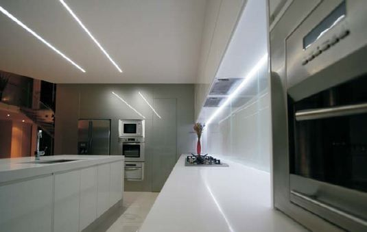 Kitchen Under Cabinet Lighting With Led Strip Lights Flexfire Leds Design