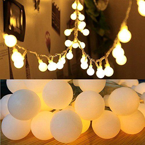 pretty nice b1398 3cd97 16 Feet 50 LED Globe Fairy Lights Battery Operated Globe ...