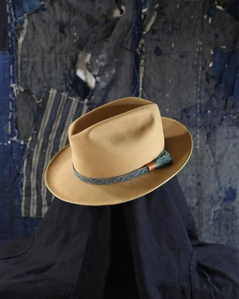 56a60a487e9 Check out these unique products by Kirikomade in Portland! Vintage Hat with  Obijime Band