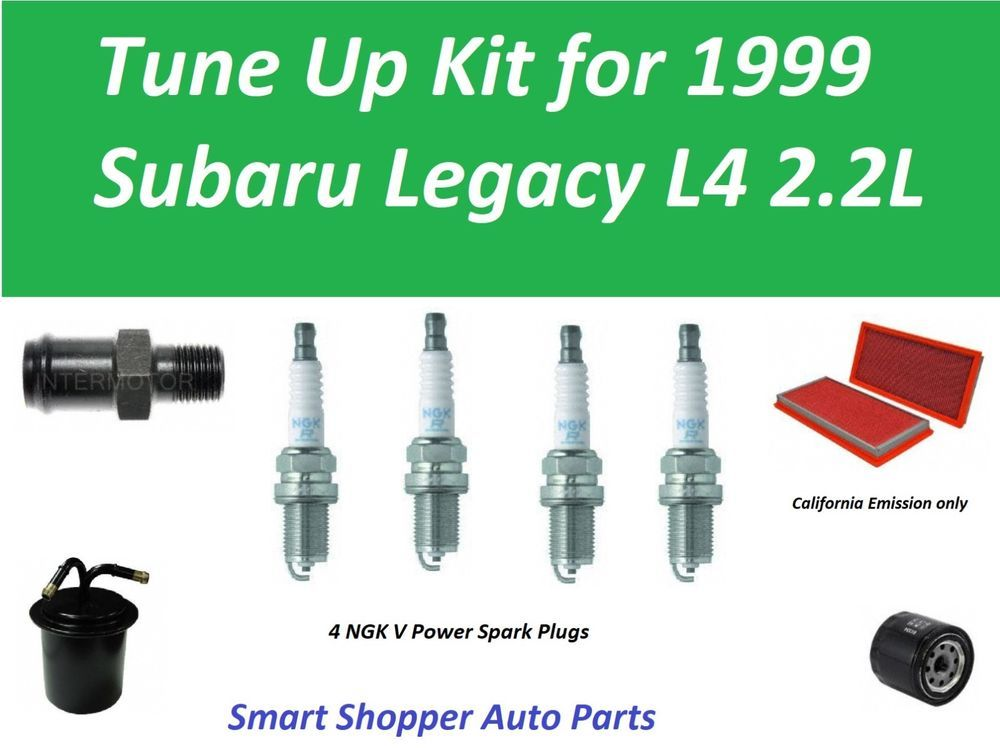 Tune Up Kit for 1999 Subaru Legacy 2.2L Air Filter, Oil