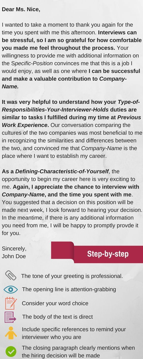 Sample Thank You Letter After Interview Cool Infographic  6 Reasons You Should Send This Thankyou Letter After .