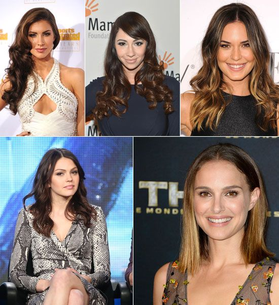 Top 2 Celebrity Sombr Hair Colors 2014 Spring Dark Brown Medium