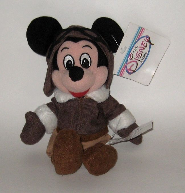 Retired Disney Store Plush NWT Mickey Mouse Aviator Pilot Bomber Jacket Goggles+ #DisneyStore