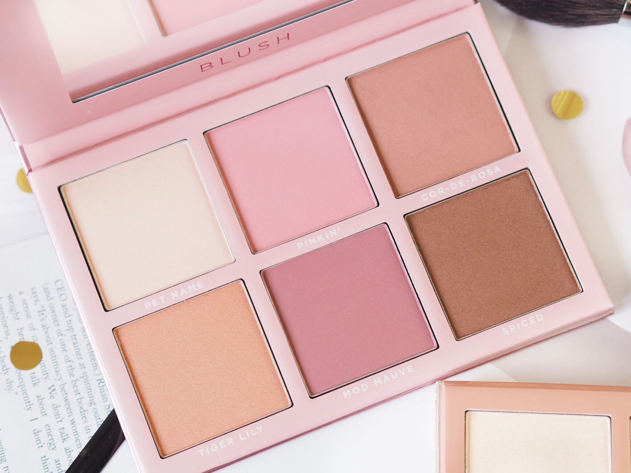 A Trio Of Sigma Newness Blush Eyeshadow Makeup Pink Eyeshadow