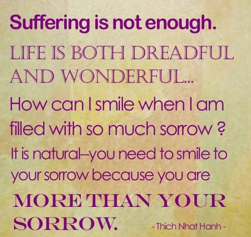 Suffering Is Not Enough