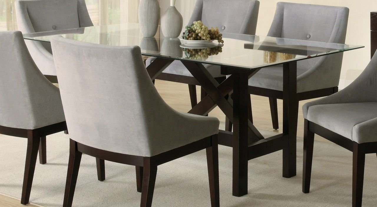 Glass Top Dining Tables With Wood Base Furniture Beauteous Coaster