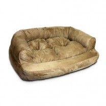 This absolutely crazy. Check out this Snoozer Overstuffed Luxury Pet Sofa, Small, Camel
