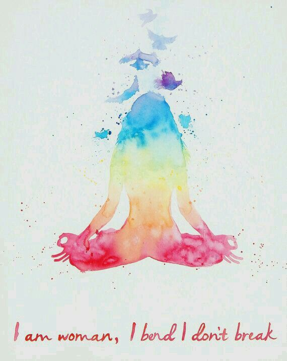 original yoga painting omwoman yoga meditate. Plain Yoga Original 24 X 30 Watercolor Painting On Canvas Portraying A Tranquil Lotus  Pose Of Female Figure Radiating The 7 Chakra Colors This Painting Throughout Yoga Omwoman Meditate E