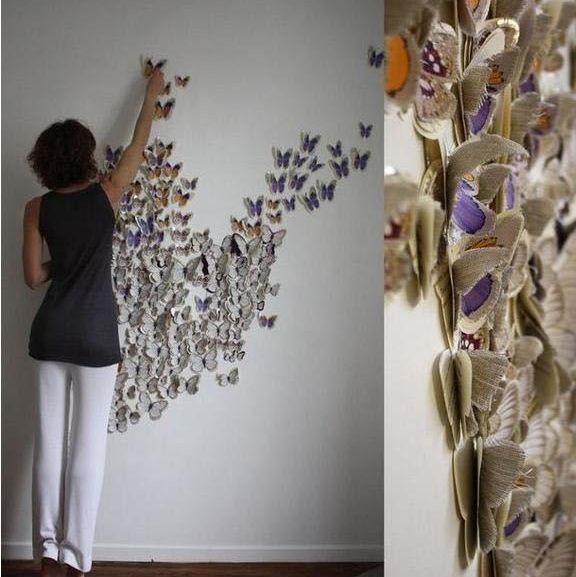 DIY Decorar paredes con mariposas de papel | M@ripos@s | Pinterest ...