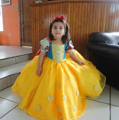 Patrón De La Princesa Blanca Nieves Para Niña De 3 Años