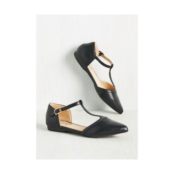 Minimal Turn Back Prime Flat ($35) ❤ liked on Polyvore featuring shoes, flats, ballet flat, black, flat, black ballet shoes, black pointy toe flats, pointy-toe flats, black skimmer and pointed toe flats