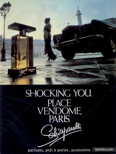 Schiaparelli (Perfumes) 1982 Shocking you, Place Vendôme, Rolls-Royce