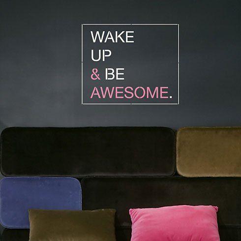 die besten 25 wandschablone zitate ideen auf pinterest dekorative wandmalereien etsy m bel. Black Bedroom Furniture Sets. Home Design Ideas