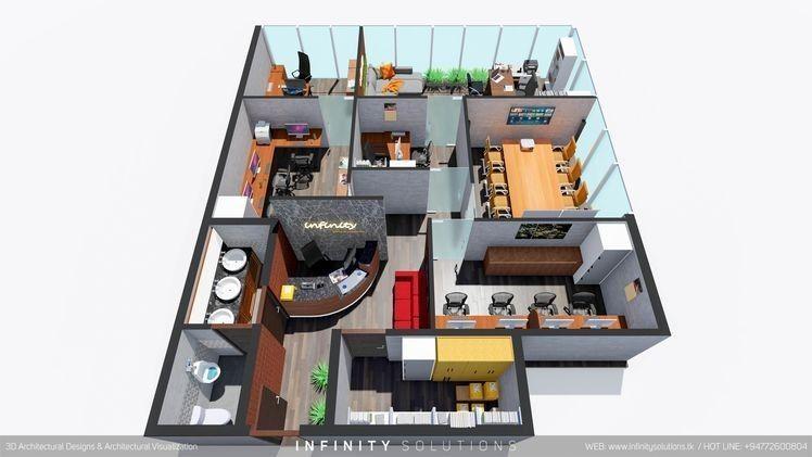 Minimalist Modern Office Design 3d Floor Plan Design Floor Minimalist Modern Modernhom Floor Plans Modern Office Design Office Floor Plan