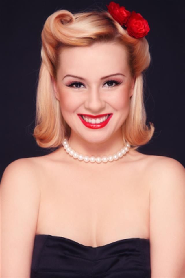 Bing Pin Up Hairstyles Hair 1940s Hairstyles 50s