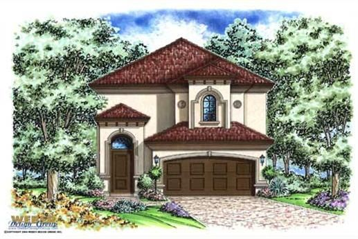 The Stratford Place Model Is A Two Story Mediterranean And Or Florida Style Set Of House Plans Which Has 1964 Total Living Square Feet Thi Kberger House